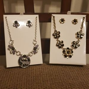 2 Women's Necklace and Earring Sets